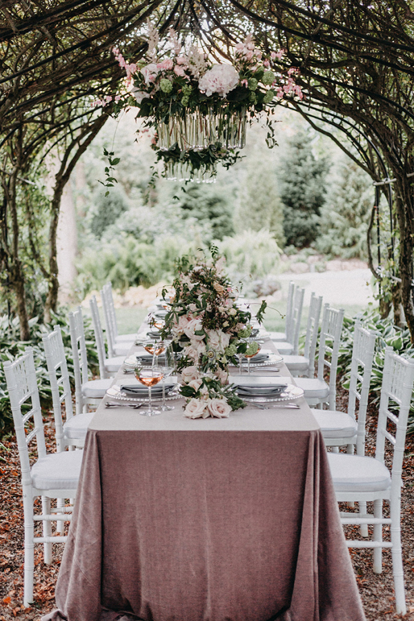 French Inspired Arbor Wedding Reception