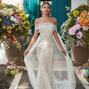 Dramatic Off the Shoulder Galia Lahav Wedding Dress