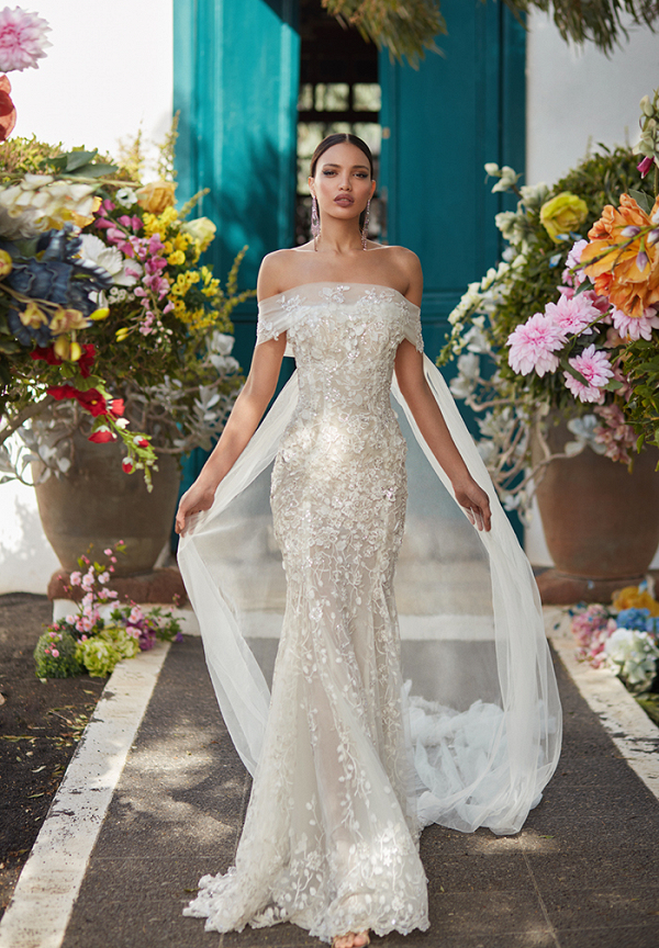 Dramatic Off The Shoulder Galia Lahav Wedding Dress