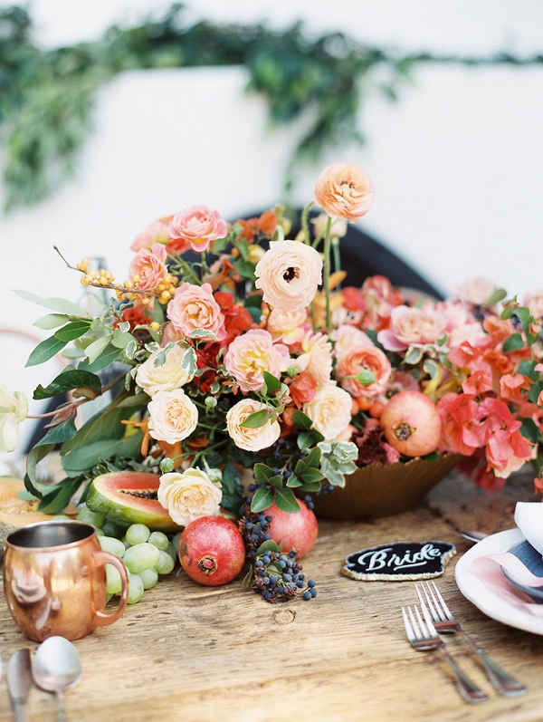 Southern California Wedding Flowers in Jewel Tone Colors