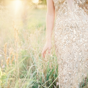 Beaded Gold Wedding Dress