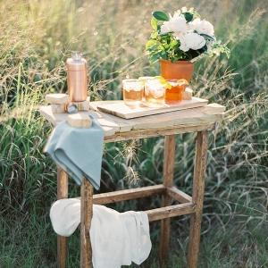 Rustic Wedding Bar with Blood Orange Margaritas