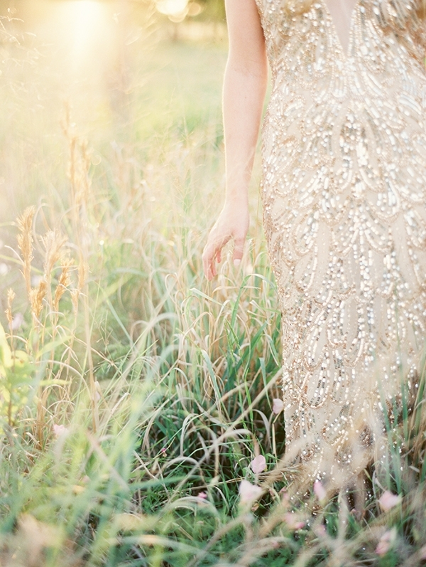 Beaded Gold Wedding Dress