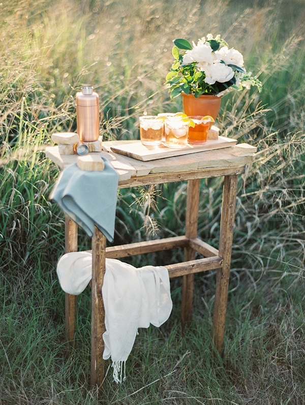 Rustic Wedding Bar with Blood Orange Margaritas