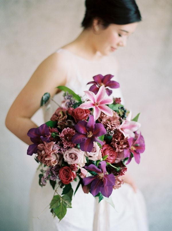 Vibrant Jewel Tones Bouquet in Shades of Purple and Plum