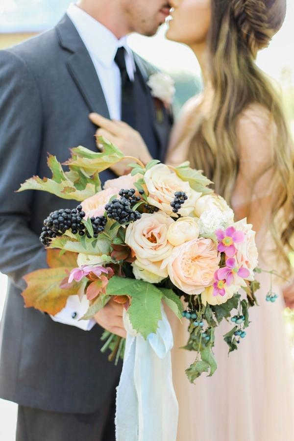 Romantic Garden Bouquet in Rose Quartz and Serenity