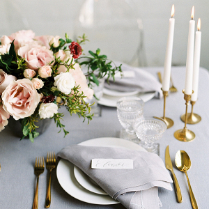 Organic Glam Wedding Decor with Crystal and Gold
