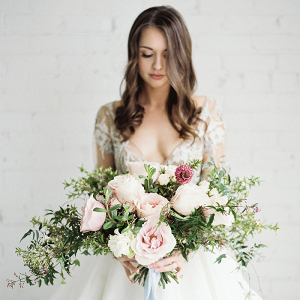 Modern Glam Bride in Hayley Paige