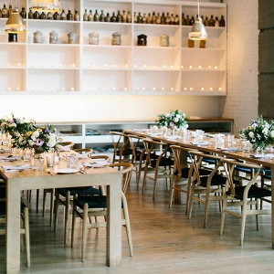 Elegant Loft Wedding Reception