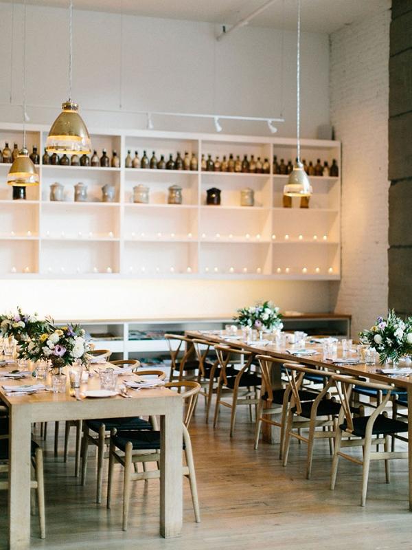 Elegant Loft Wedding Reception