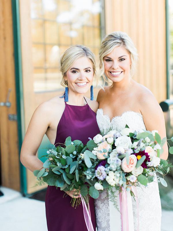Texas Glam Bride and Bridesmaid