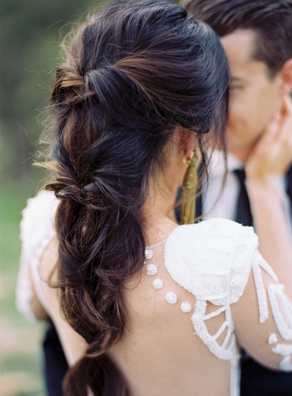 Epic Braid for a Sexy Bohemian Bride