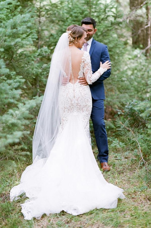 Glamorous Woodland Wedding Portraits
