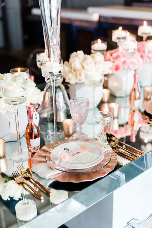 Rose Gold and Glam Wedding Shoot