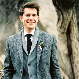 Winter Groom's Style with Knits and Tweed