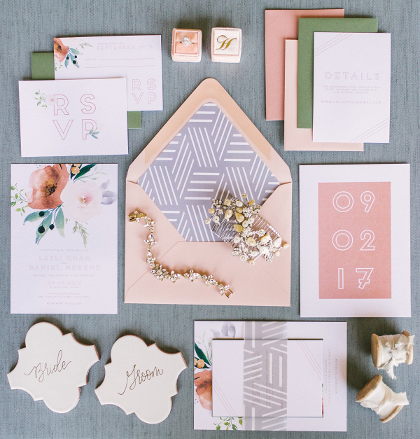 Modern Pattern and Floral Print Invitations