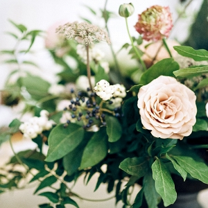 Neutral Botanical Wedding Centerpiece