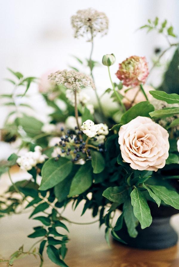 Neutral Botanical Wedding Centerpiece