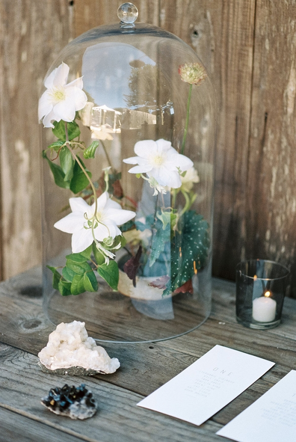 Escort Card Table with Modern Bohemian Wedding Flowers