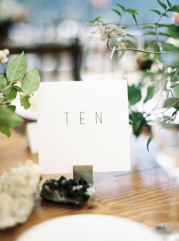 Modern Hand Lettered Table Number