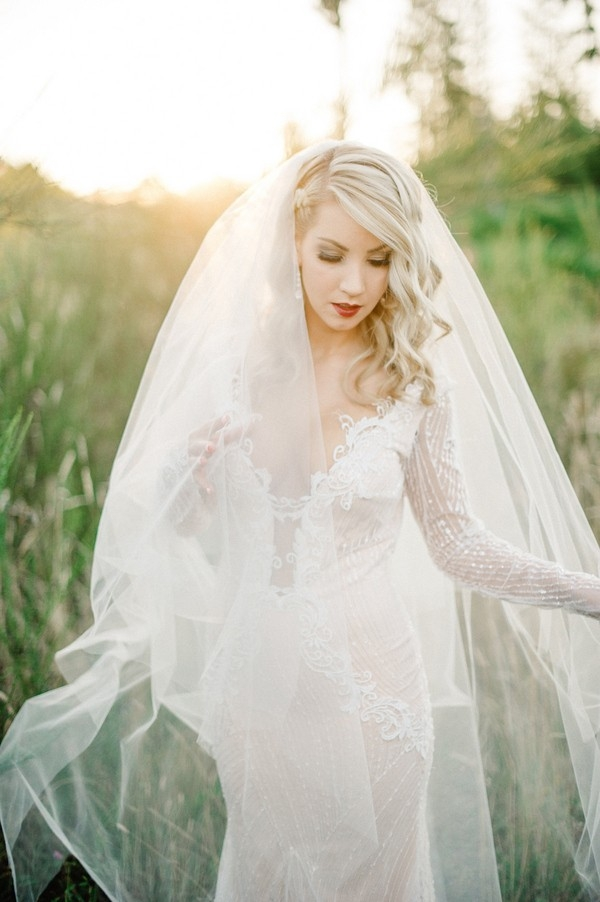 Modern Glam Bride with an Ethereal Veil
