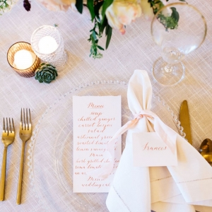 Elegant and Organic Place Setting