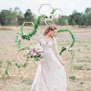 Modern Geometric Ceremony Backdrop