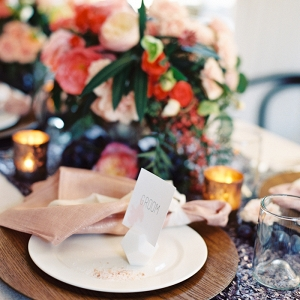 Blend of Rustic and Modern Wedding Decor