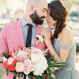 Stylish Southern Wedding with a Modern Preppy Palette