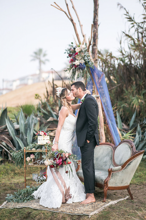 Seaswept Bohemian Beach Wedding
