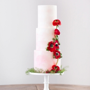 Poppy Red Wedding Cake