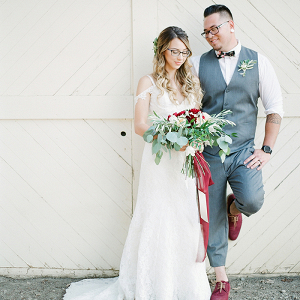 Modern Bohemian Barn Wedding