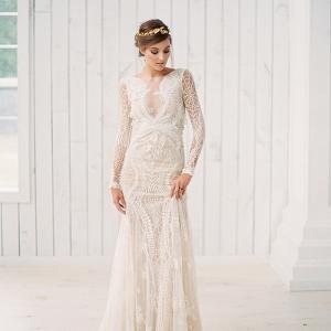 Bohemian Glam Wedding Dress