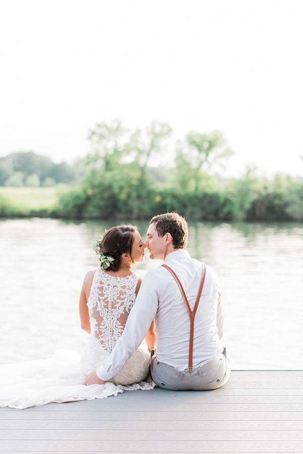 Rustic Southern Wedding with a Dramatic Wedding Dress