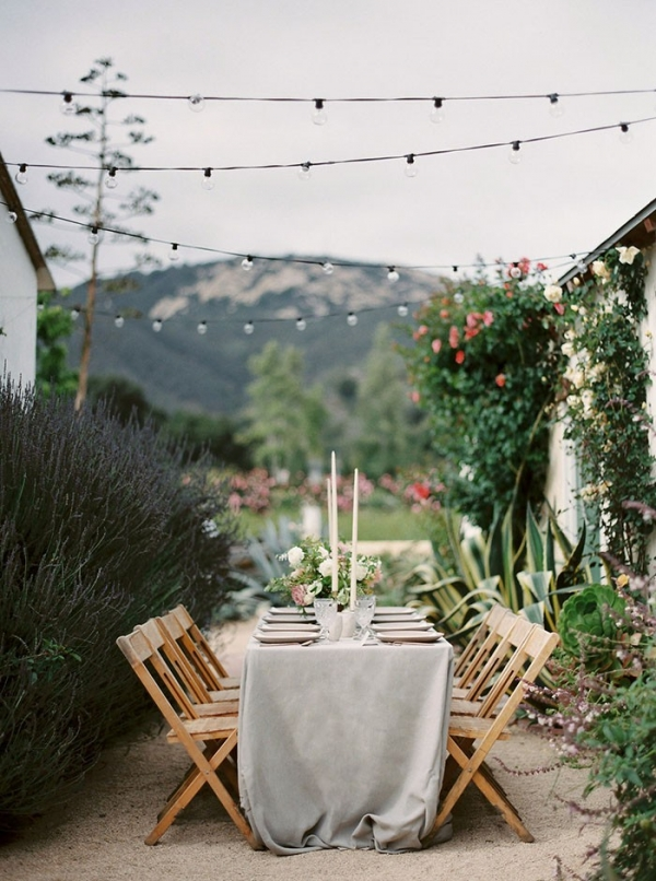 Rustic Elegant Outdoor Reception at a Flower Farm