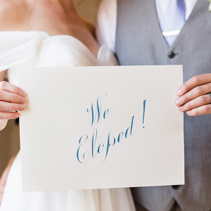 We Eloped Sign