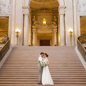 Dramatic Wedding Photos at San Francisco City Hall