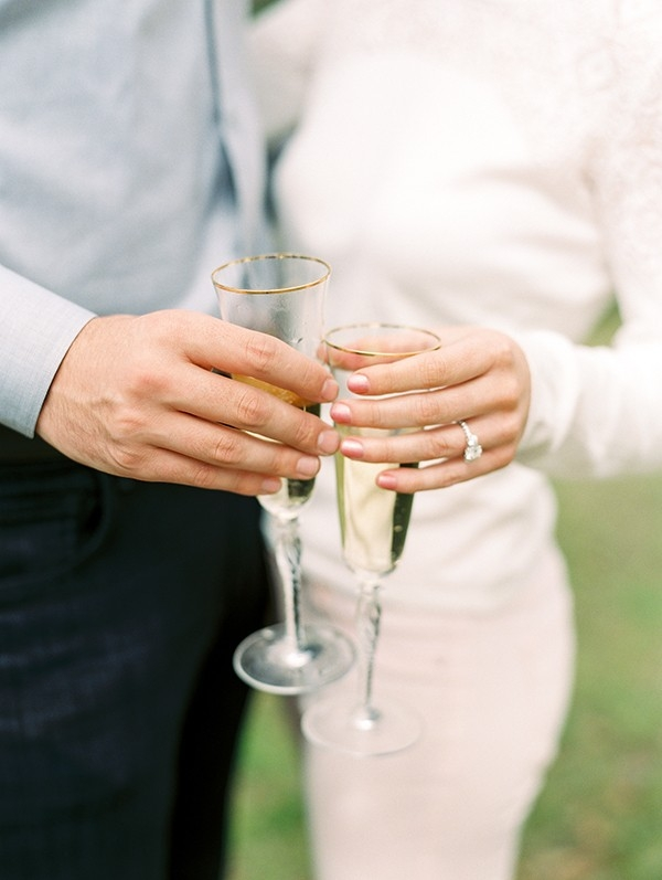 A Champagne Toast to Celebrate their Engagement!