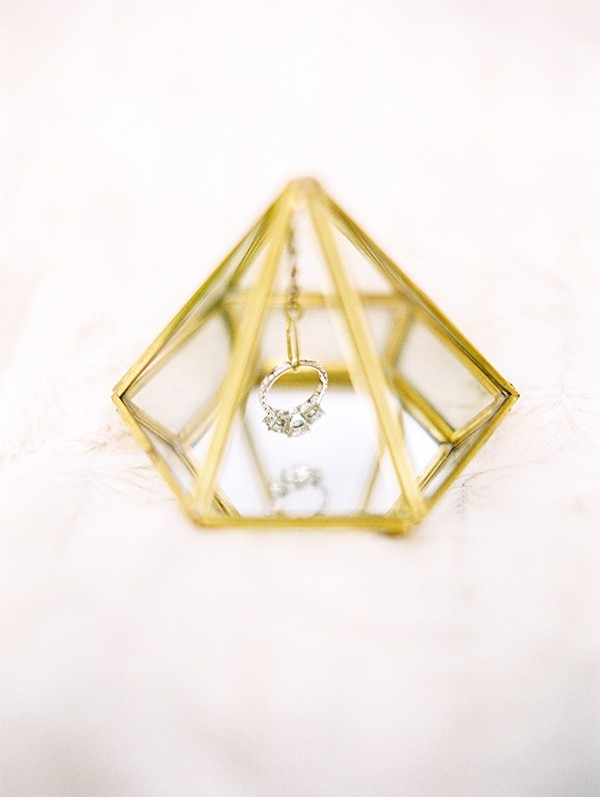 Geometric Gem Shaped Ring Box