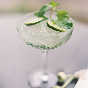 Refreshing Mint and Lime Tropical Wedding Cocktail