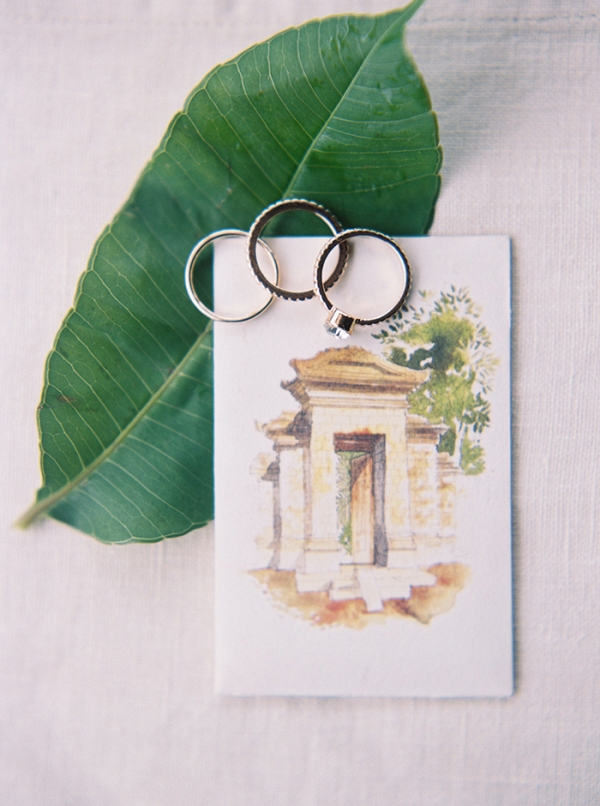 Destination Wedding Invitation and Rings