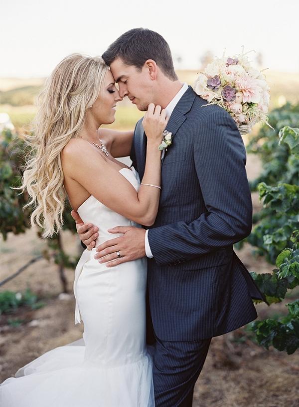Romantic Vineyard Wedding Photos