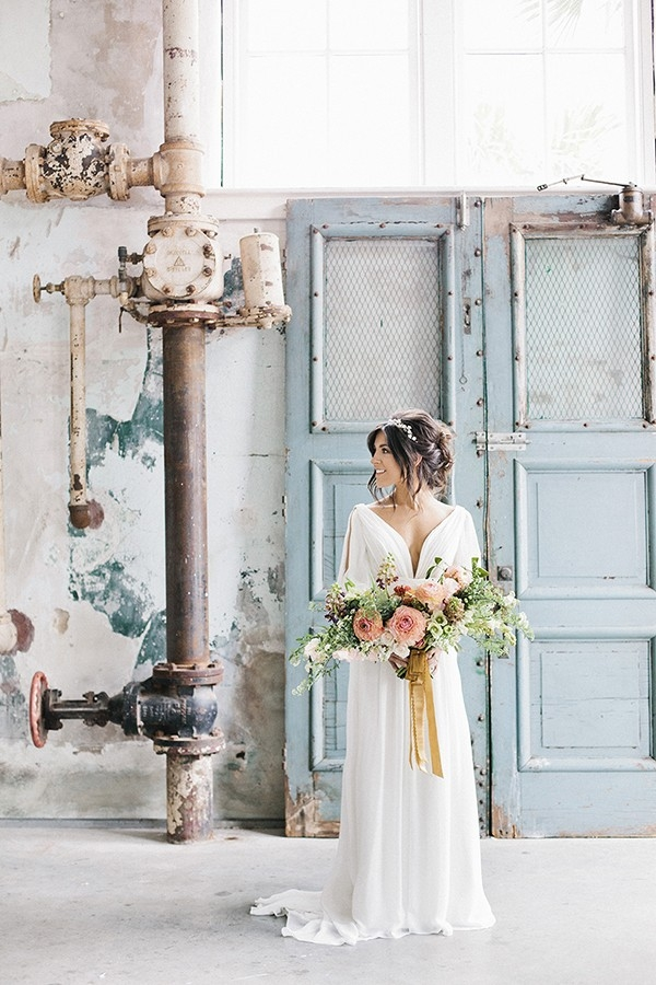 Casual Chic Bride for a Rustic Industrial Fixer Upper Inspired Wedding