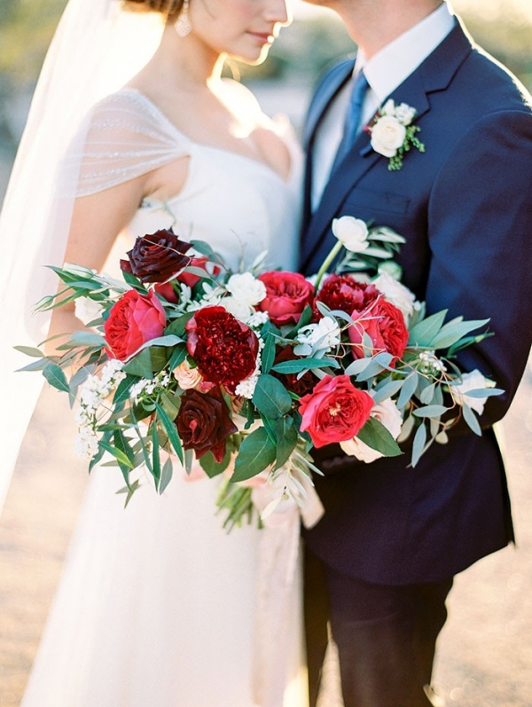 A Bold and Modern Red, White, and Blue Wedding Palette