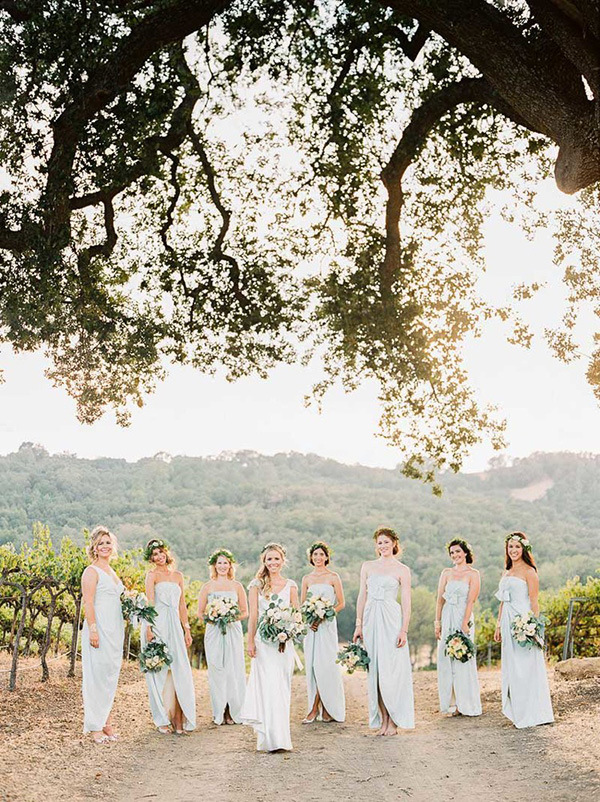 Winery Chic Bridesmaids in Southern California