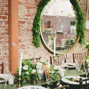 Organic and Industrial Wedding Reception