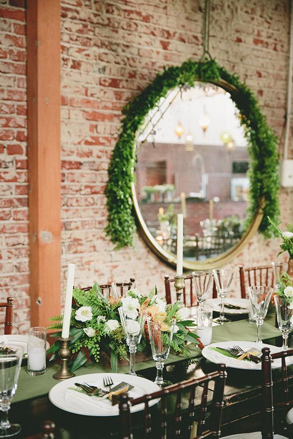 Organic and Industrial Wedding Reception