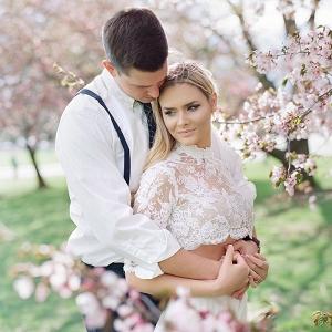 Vintage Bohemian Cherry Blossom Wedding Shoot in Washington DC