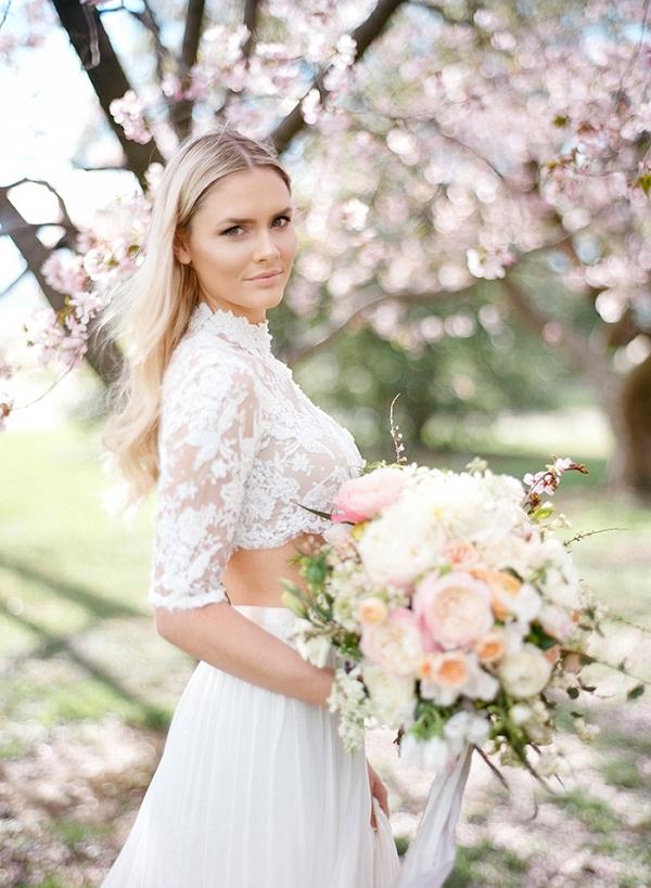 Spring Snow - A Cherry Blossom Wedding Shoot - Aisle Society