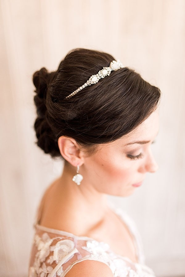 Romantic Bridal Hairstyle with Delicate Hand Crafted Accessories
